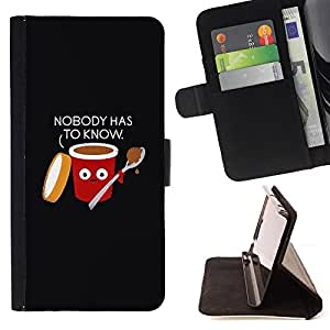 Food Black Quote Funny - Painting Art Smile Face Style Design PU Leather Flip Stand Case Cover FOR LG Nexus 5 D820 D821 @ The Smurfs