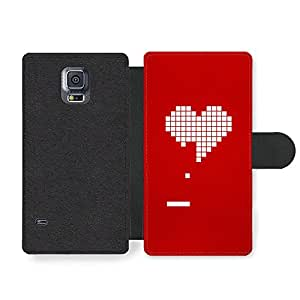 New Cool Love Heart Bricks Red Pong Game Retro Funny Faux Leather case for Samsung Galaxy S5