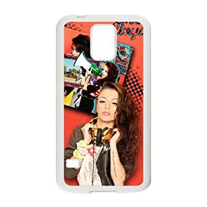 Happy Music Girl Fashion Comstom Plastic case cover For Samsung Galaxy S5
