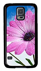 Pink Flowers 2 PC Black Hard Case Cover Skin For Samsung Galaxy S5 I9600 by Maris's Diary