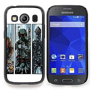 "Qstar Arte & diseño plástico duro Fundas Cover Cubre Hard Case Cover para Samsung Galaxy Ace Style LTE/ G357 (B0Bba Fett - Bounty Hunter"")"