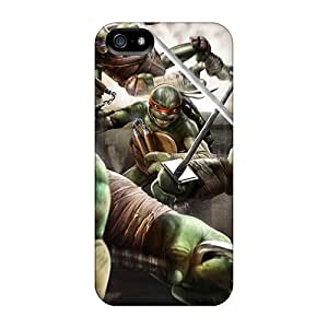 Protector Cell-phone Hard Cover For Apple Iphone 5/5s (yML24190mzdd) Allow Personal Design Realistic Teenage Mutant Ninja Turtles Out Of The Shadows Game Pattern