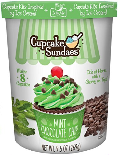 In the Mix Cupcake Sundaes Mint Chocolate Chip Cupcake Kit, 9.5 Ounce (Cream Ice Chocolate Cakes)