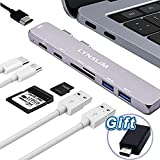 "USB C Hub, Elando Thunderbolt 3 Dock for MacBook Pro 13"" and 15"" 2016/2017, Type C Power Delivery, Micro SD Card Reader, USB C to USB Multiport Adapter Design for MacBook Pro"