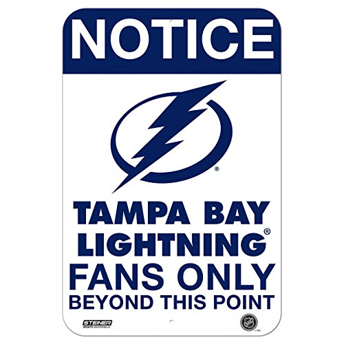 (Tampa Bay Lightning Fans Only 8x12 Aluminum Sign)