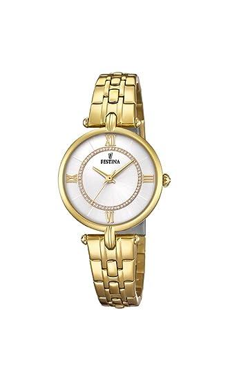 Festina Reloj Análogo clásico para Mujer de Cuarzo con Correa en Acero Inoxidable F20317/1: Amazon.es: Relojes