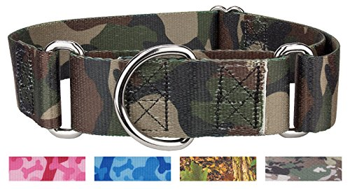 Country Brook Design 1 1/2 Inch Woodland Camo Martingale Dog Collar-Extra Large ()