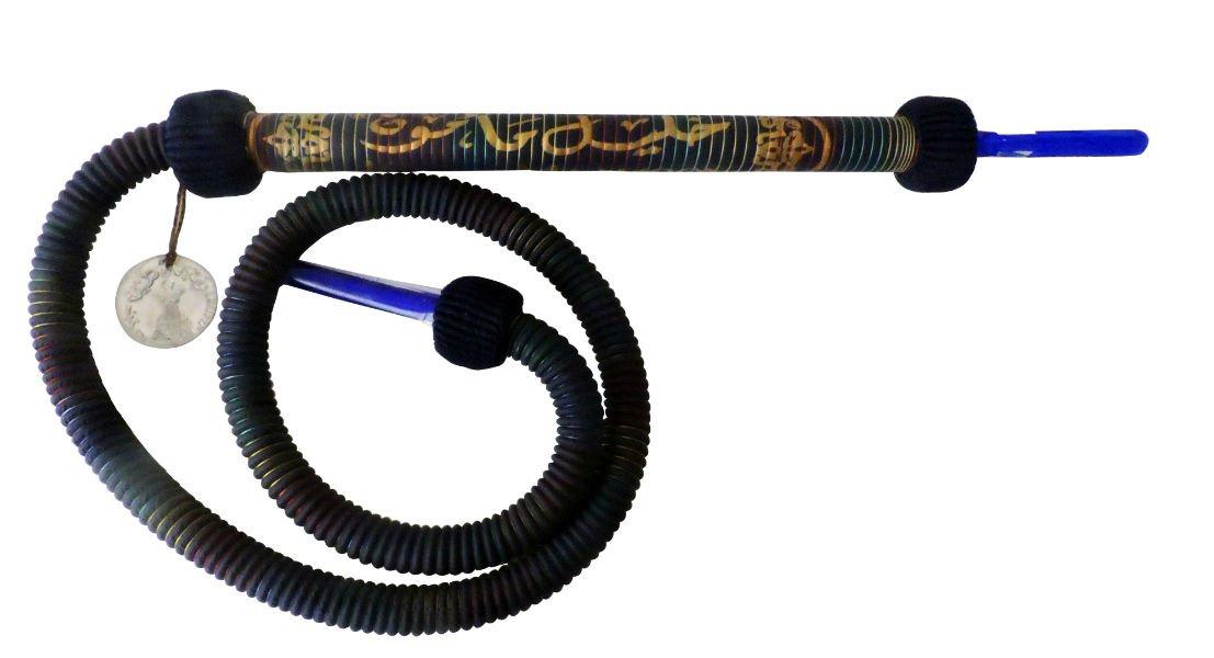 Khalil Mamoon Signature Rainbow BLUE Hookah Hose 70'' Inches Long