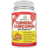 EarthWell Turmeric Curcumin Extract Anti-inflammatory Supplement, 650mg (120 Capsules)