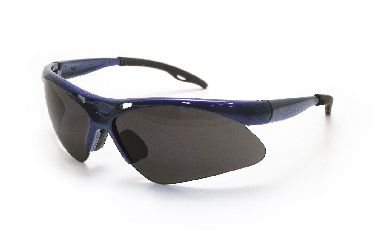 Shade Lens//Blue Frame SAS Safety Corp. SAS Safety 540-0311 Diamondback Eyewear with Clamshell