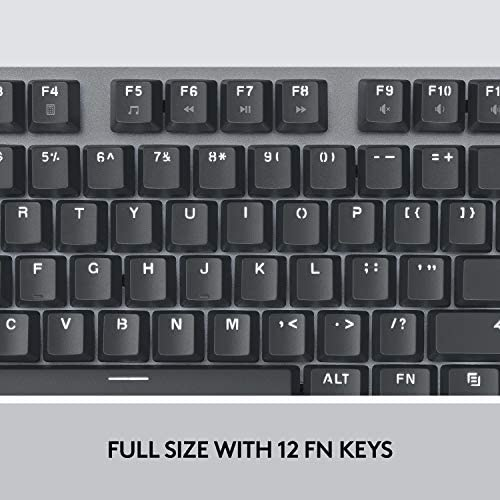 Logitech K845 Mechanical Illuminated Keyboard, Mechanical Switches, Strong Adjustable Tilt Legs, Full Size, Aluminum Top Case, 104 Keys, USB Corded, Windows (TTC Brown Switches)