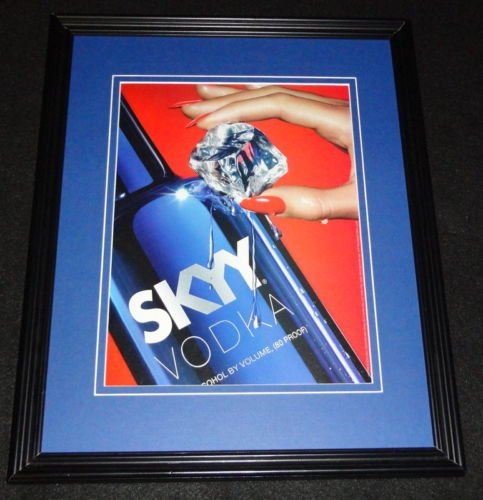 2001-skyy-vodka-framed-11x14-original-vintage-advertisement