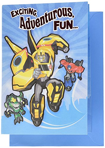 Hallmark Birthday Greeting Card for Kids (Transformer - Card Transformers Birthday