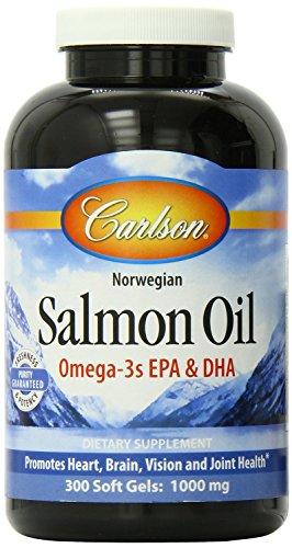 - Carlson Laboratories Norwegian Salmon Oil 500 mg 300 Softgels