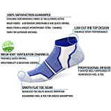 Well Knitting Mens 6 Pairs Cushioned Coolmax Tennis Sports Running Ankle Socks