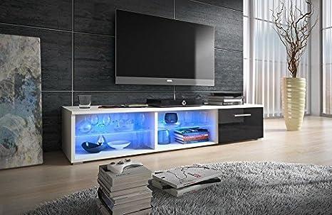 Nuovo mobile porta tv cm multicolore illuminazione a led