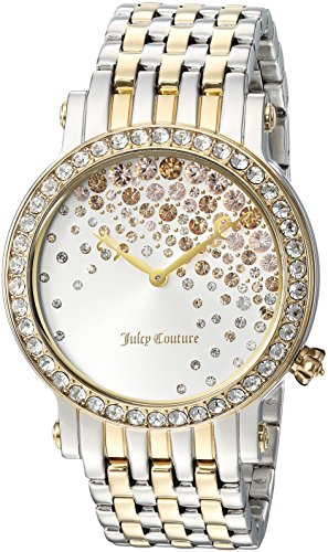 Juicy Couture Women's LA Luxe Yellow and White Gold Quartz Watch with Two-Tone-Stainless-Steel Strap, 18 (Model: 1901559) - Juicy Couture Stone
