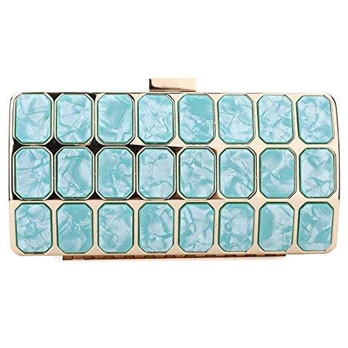 - SABARRY Evening Clutches Women Shoulder bag Wedding Party Handbag (Turquoise)