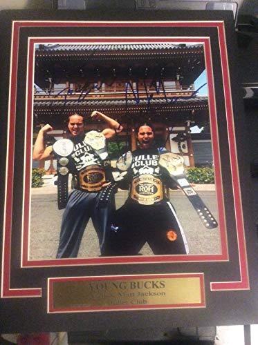 Bullet Club YOUNG BUCKS Nick Matt Jackson 11X14 Matted Namplate PHOTO  AUTOGRAPH a1077c3d43a3b
