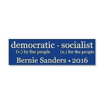 Cafepress democratic socialist car magnet 10 x 3 magnetic bumper sticker