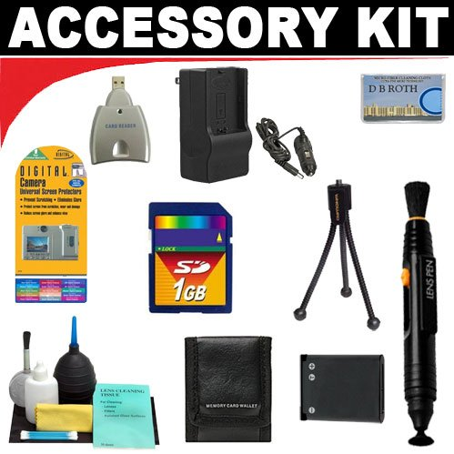 Digital Camera 1gb Deluxe Accessory (1GB Deluxe DB ROTH Accessory Kit For The Aiptek DV5800, MZ-DV Camcorders)