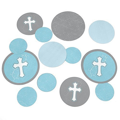 Little Miracle Blue Gray Cross