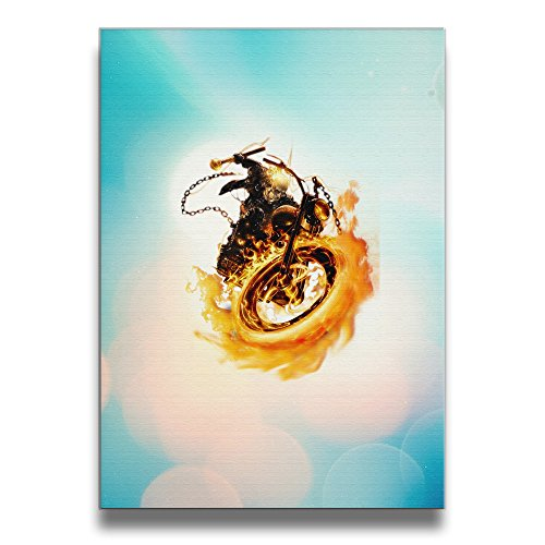 [Bekey Ghost Rider Logo Canvas Prints Artwork For Home Office Decorations Wall Decor For Living Room&bedroom] (Ign Batman Costume)