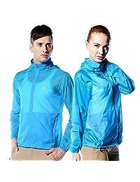 WANGQIANG Unisex Anti UVA UPF 30+ Transparent Windbreaker Women Sun Protective Hooded Jackets