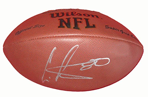 Cris Carter Autographed Wilson NFL Football W/PROOF, Picture Of Cris Signing For Us, Minnesota Vikings, Philadelphia Eagles, Miami Dolphins, Hall of Fame, Ohio State Buckeyes