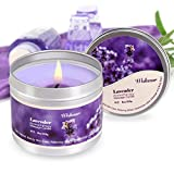 Robin-US Scented Candles Lavender Aromatherapy Candles Soy Wax Massage Candles Moisturizing For Spa,Skincare Massage and Stress Relief Natural Essential Oil Low Temperature Candles,6 oz/115g
