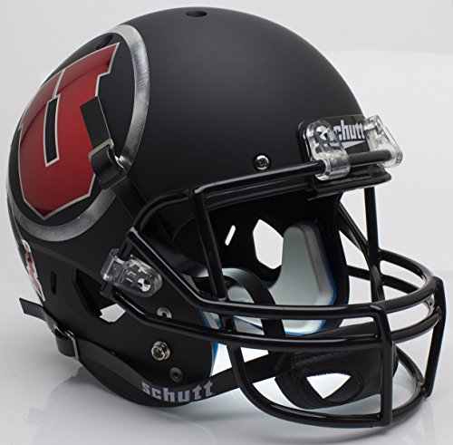 NCAA Utah Utes Matte Black Replica Helmet, One Size