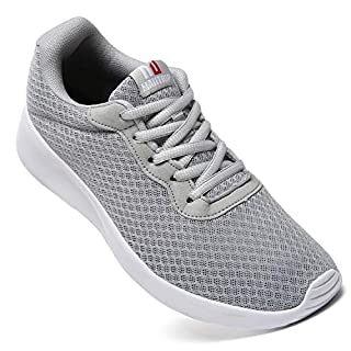 MAITRIP Mens Gym Shoes,Athletic Running Shoes,Lightweight Breathable Mesh Casual Tennis Sports Workout Walking Sneakers,Grey,Size 10.5