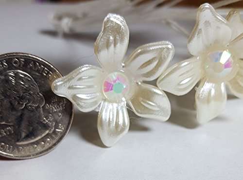 Plastic Flower Stephanotis/Plumeria Stem 26mm-1