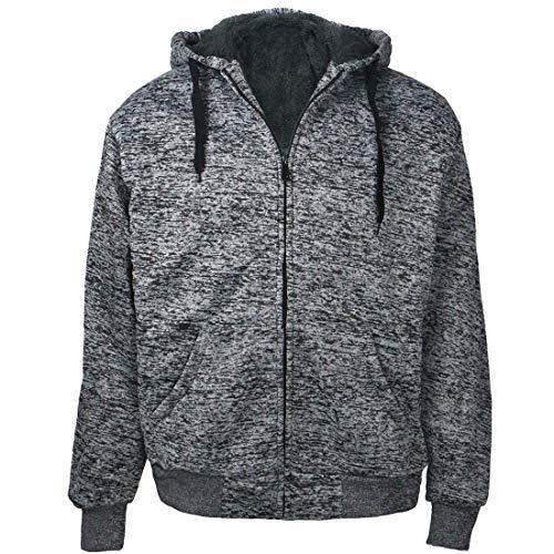 Gary Com Marled Men Hoodies, Heavyweight Sherpa Lined Fleece Full Zip Sweatshirts Jackets -