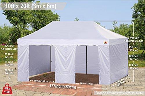 ABCCANOPY 10 Ez Pop Tent Gazebos with 9 6x Weight