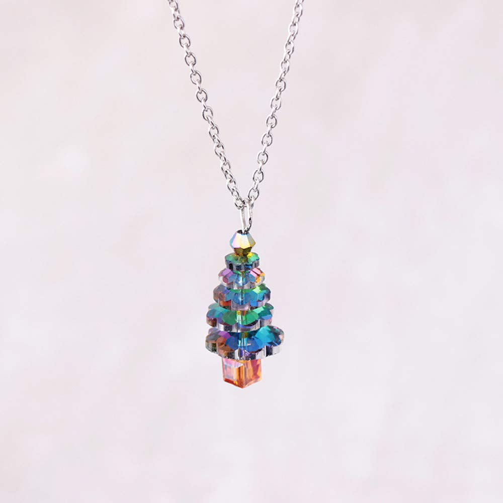 Crystal Christmas Tree Pendant Necklace Wild Autumn Sweater Chain SOMESUN Crystal Christmas Tree Pendant Necklace Autumn Winter Sweater Chain SOMESUN181019