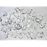 CJESLNA Translucent Clear Acrylic Ice Rocks for Vase Fillers or Table Scatters