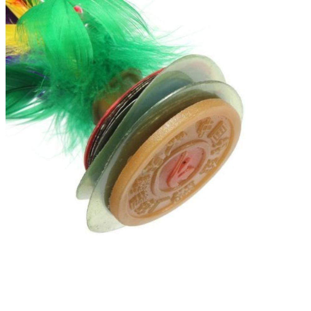 AMOYER 2pcs de Plumas de Colores Chino Jianzi Kicking Volante Pie Ejercicio Juego de Exterior