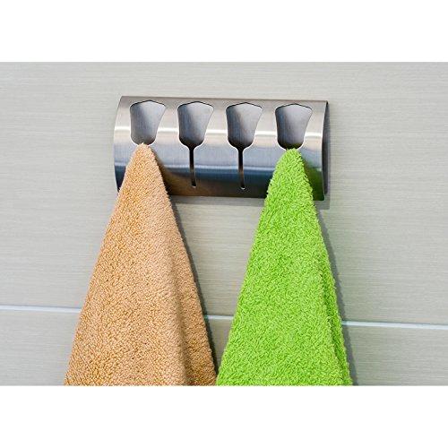 tatkraft florida porte serviette adh sif pat re salle de bain 4 crochets inox int rieur maison. Black Bedroom Furniture Sets. Home Design Ideas
