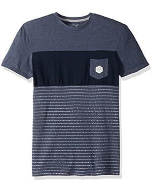 Men's Jacquard Block Tee Short Sleeve Knit