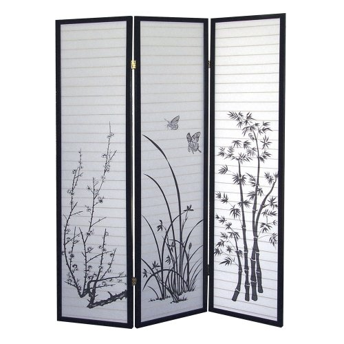 ORE International 3-Panel Room Divider, Scenery