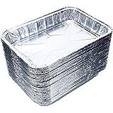 "DOBI (30-Pack) Weber Grills Compatible Drip Pans, Bulk Package, Aluminum Foil BBQ Grease Pans, 7.5"" x 5"""