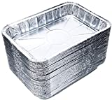 DOBI (30-Pack) Weber Grills Compatible Drip Pans, Bulk Package, Aluminum Foil BBQ Grease Pans, 7.5'' x 5''