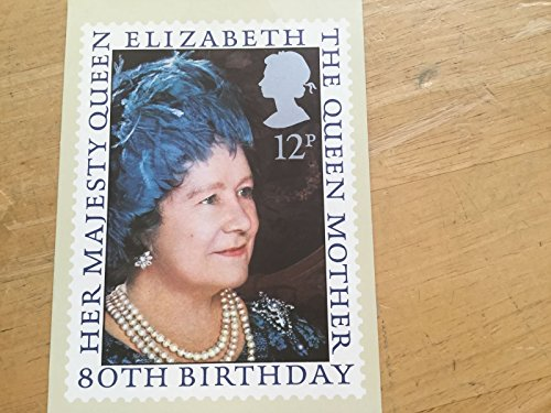 TGBCH Royal Mail PHQ Stamp Cards (4 Aug 1980 12p Queen Elizabeth Queen Mother 80th)