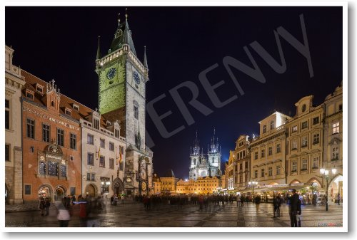 Old Town Square in Prague - Czech Republic - NEW World Travel Poster