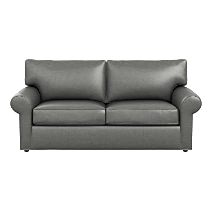 Amazon.com: Ethan Allen Retreat roll-arm sofá de piel ...