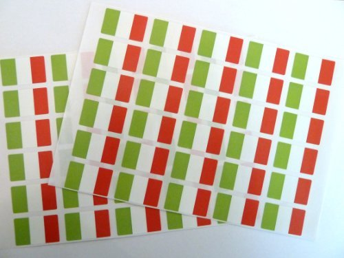 Minilabel Pack Of 60 , 33X20mm , Italy Self-Stick Flag Stickers Self-Adhesive Italian Flag Labels