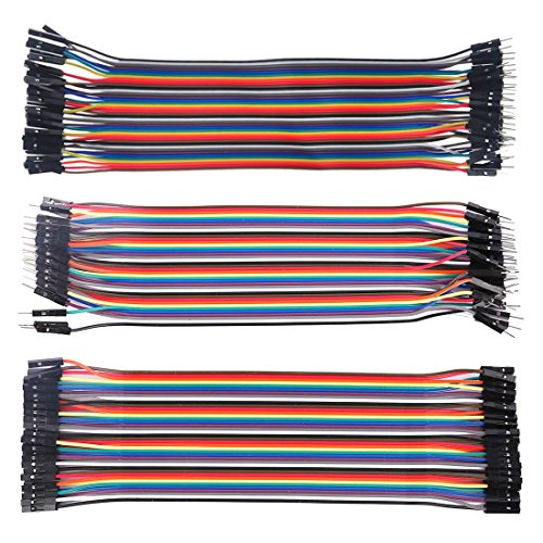 YIFAN Dupont Wire Jumper for Arduino, 120Pcs 30cm/11.8in Multicolored Dupont Cables 40pin M to F, 40pin M to M, 40pin F to F for Breadboard/Arduino DIY