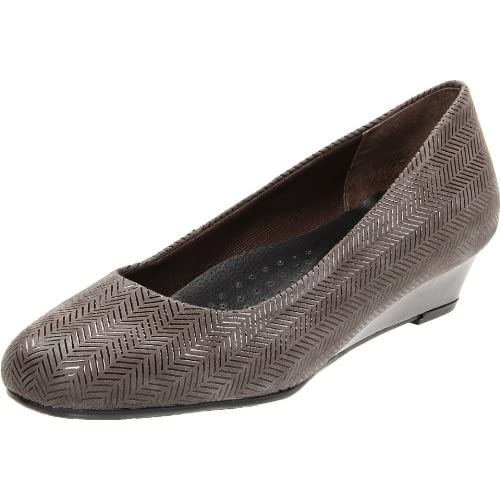 Trotters Women's Lauren Dress Wedge,Dark Gray,5.5 M US