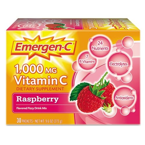 Blend Raspberry - Emergen-C Immune Defense Drink Mix, Raspberry.3oz Packet, 50/Pack